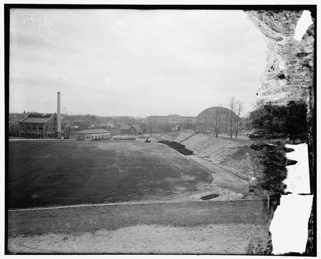 [Athletic field, Catholic University, Washington, D.C.]