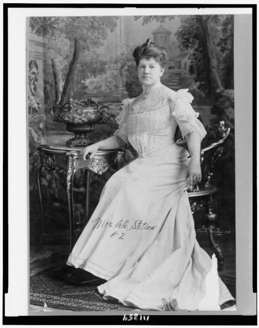 [Augusta E. Stetson, full-length portrait, seated, facing slightly left]
