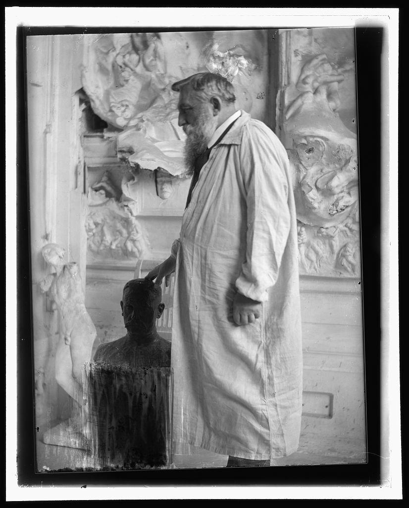 [Auguste Rodin, profile, Meudon, France]