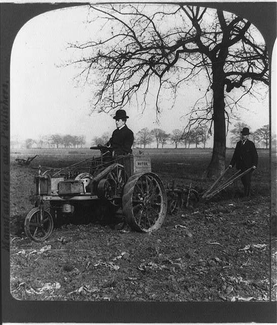Automobile plow--in use in England