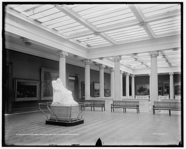 Balcony gallery, Corcoran Gallery of Art, Washington, D.C.