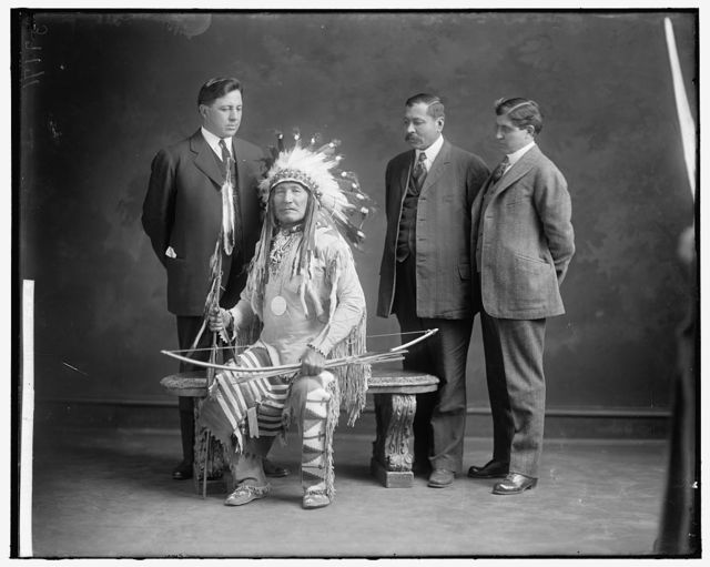 BLACK FEET DELEGATION, MONTANA. GROUP