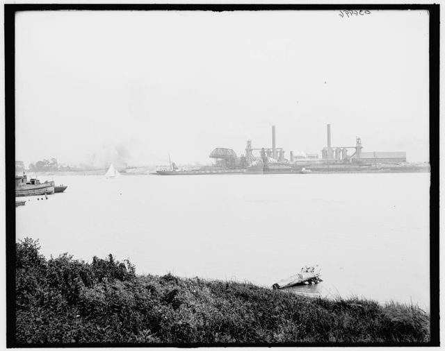 [Blast furnaces from west bank of Maumee River, Toledo, Ohio]