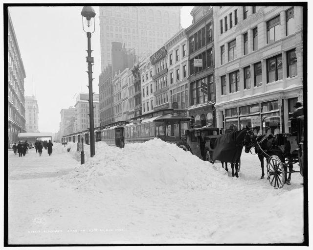 Blockaded cars on 23rd St., New York