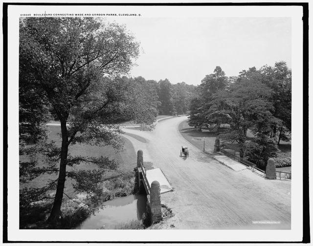 Boulevard connecting Wade and Gordon parks, Cleveland, O[hio]