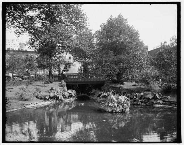 Bridge in Monument Park, Cleveland, O[hio]