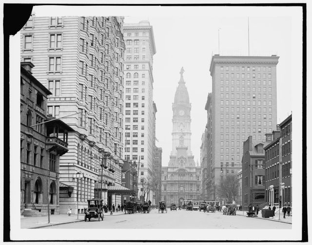 [Broad Street, north from Locust Street, Philadelphia, Pa.]