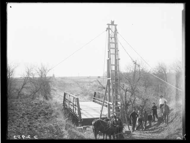 Building a bridge on the Wood River.