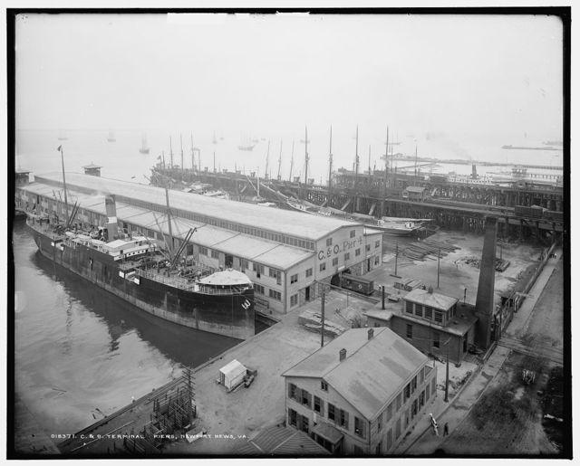 C. & O. terminal piers, Newport News, Va.