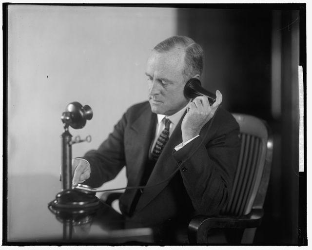 C & P TELEPHONE CO. MAN ON PHONE