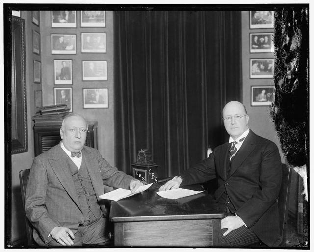 CBS. The Argentine Ambassador Dr. Manuel Mabbran & Sen. Tasker L. Oddie of Nevada