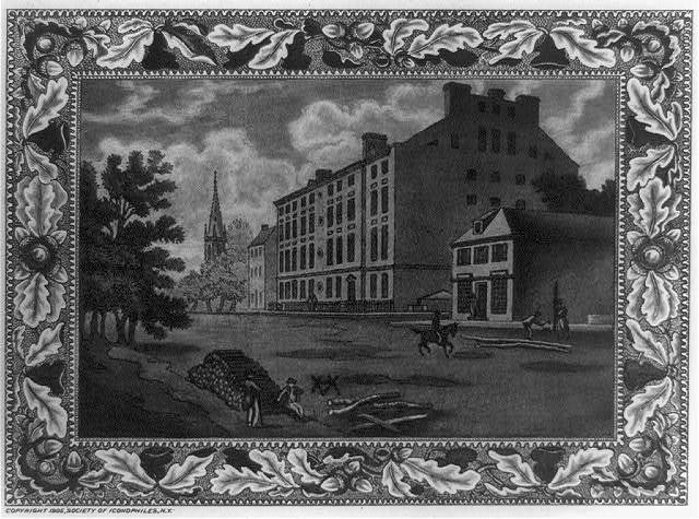 City Hotel, Broadway, between Thames and Cedar Streets / engraved in aquatint by C.F.W. Mielatz.