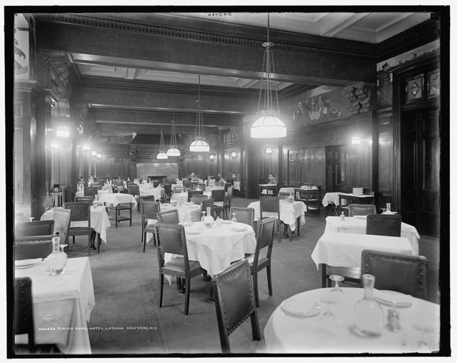 Dining room, Hotel Latham, New York, N.Y.