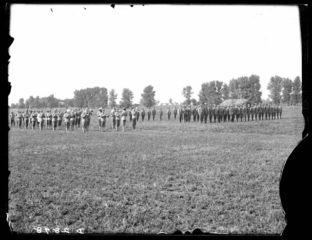 Dress parade, Nebraska National Guard, Kearney, Nebraska