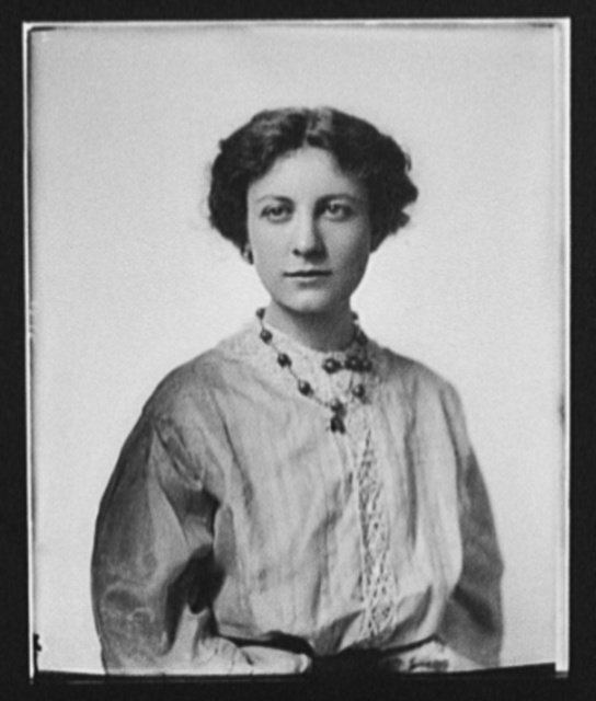 [Eleanor Robson Belmont, half-length portrait with necklace]