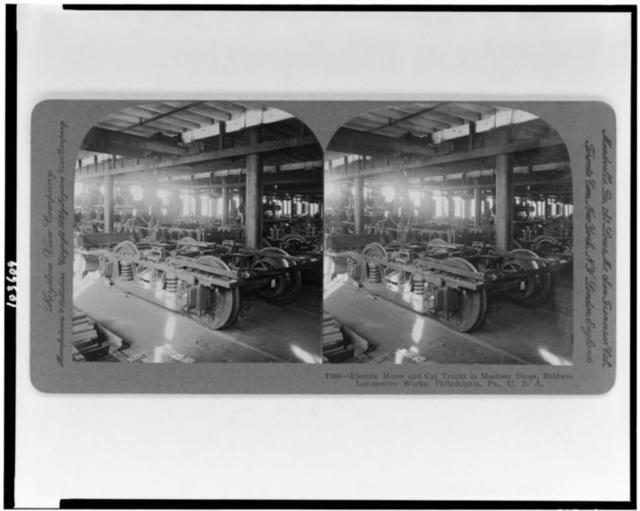 Electric locomotive for mine haulage under construction in erecting shop, Baldwin Locomotive Works, Philadelphia, Pa., U.S.A.