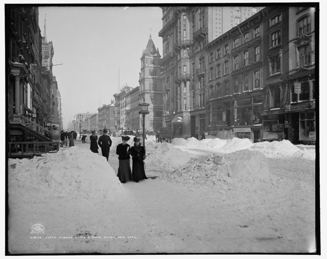 Fifth Avenue after a snow storm, New York