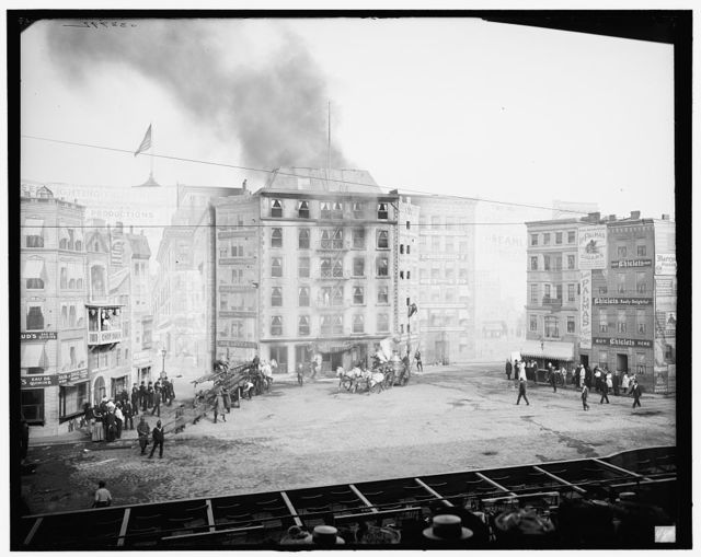 [Fighting the flames, Coney Island, N.Y.]