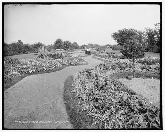 Flower beds, Como Park, St. Paul, Minn.