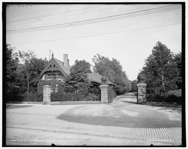 Forest Hill Lodge, entrance to Rockefeller's home, Cleveland, O[hio]