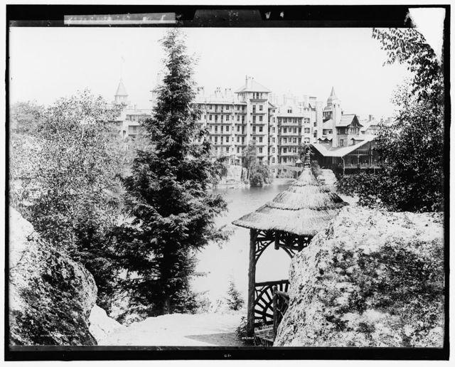 [Gazebo and lake, Mohonk Mountain House, Lake Mohonk, N.Y.]