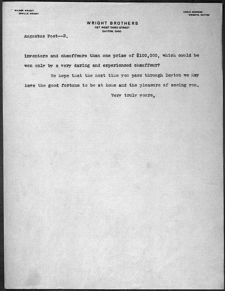 General Correspondence: Aero Club of America, 1905-1907
