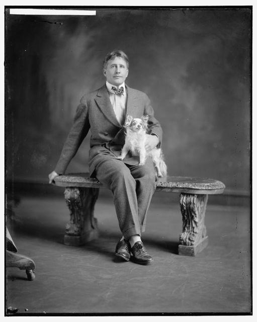 GRANT, THOMAS. WITH DOG