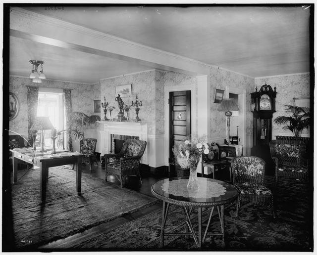 [Green Gables Club, reception room, Magnolia, Mass.]