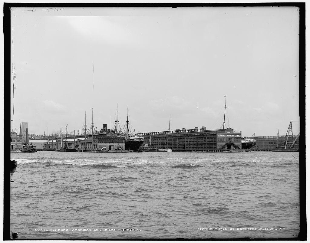 Hamburg-American Line piers, Hoboken, N.J.