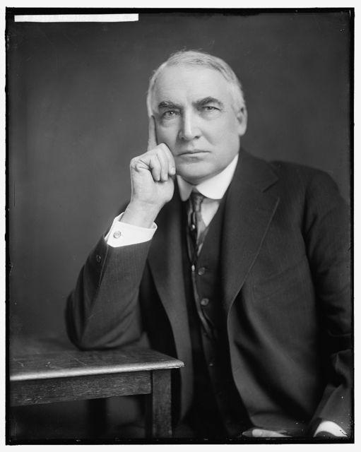 HARDING, WARREN G. HONORABLE
