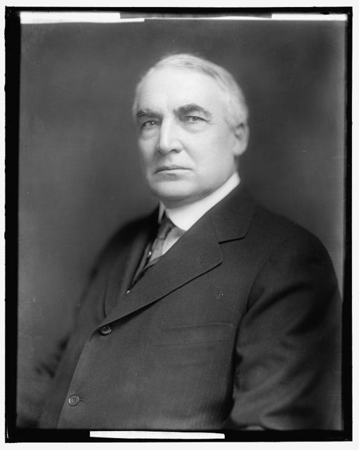 HARDING, WARREN G. HONORABLE