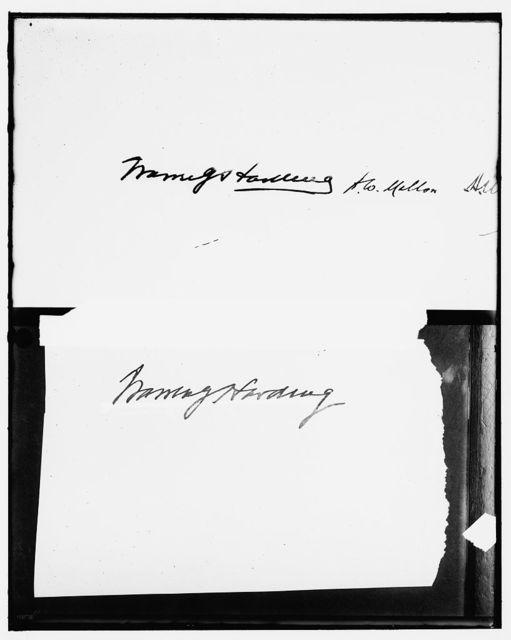 HARDING, WARREN G. SIGNATURE