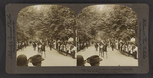 Head of C.T.A.U. parade on S. Franklin St., Wilkes-Barre, Pa., Aug. 10, 1905.