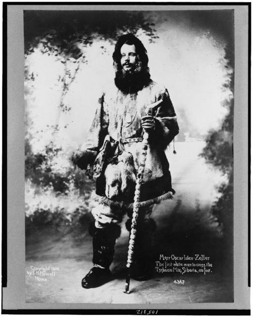 Herr Oscar [i.e. Oskar] Iden-Zeller, the first white man to cross the Tschaun Mts., Siberia, on foot