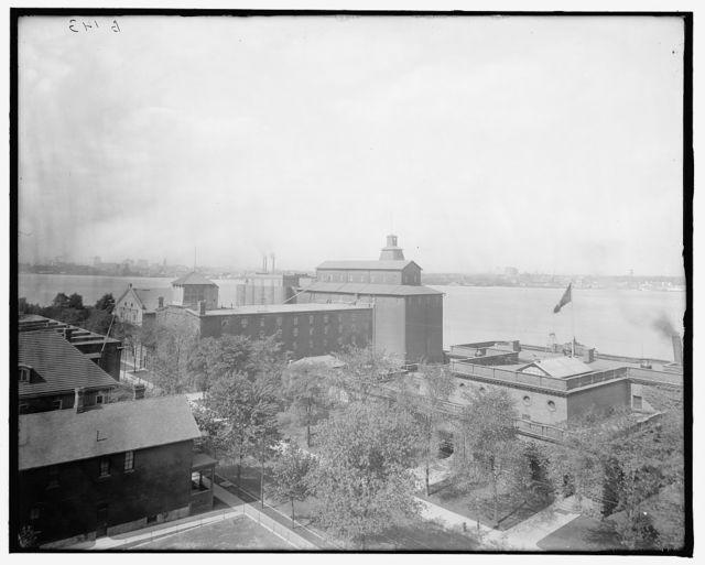 [Hiram Walker & Sons, malt house from bottling works, Walkerville, Ont.]