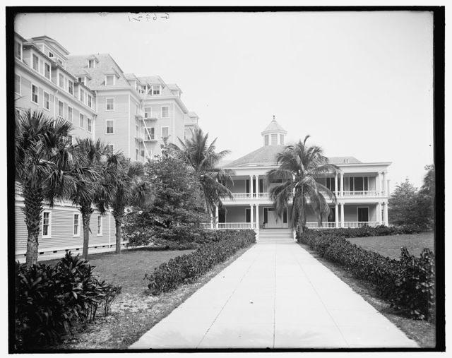 [Hotel Royal Poinciana, east facade, Palm Beach, Fla.]