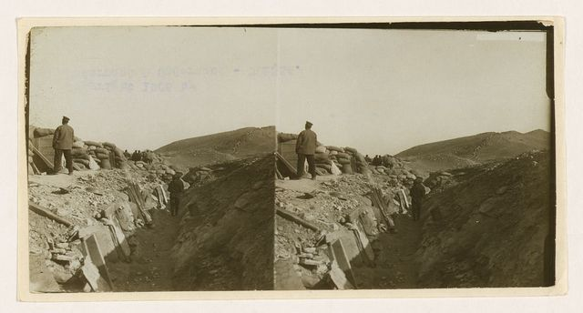 "[In a Russian trench near ""Eagle's Nest"" during the siege -- watching for assaults -- Port Arthur]"