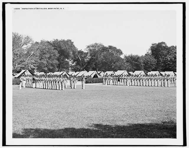Inspection of battalion, [United States Military Academy], West Point, N.Y.