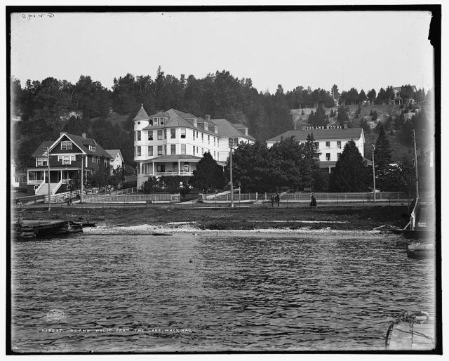 Island House from the lake, Mackinac