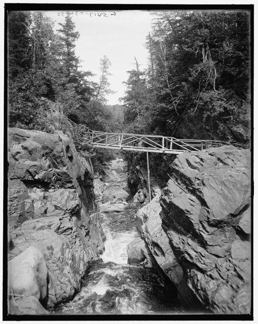 [Lake Placid, Wilmington High Falls, the flume, Adirondacks, N.Y.]