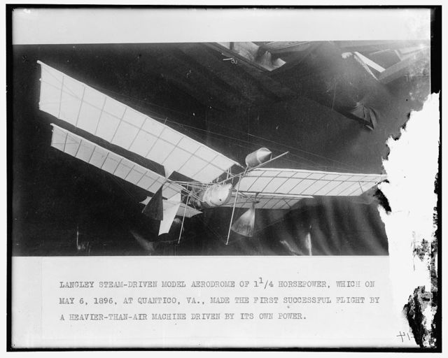 Langley's steam model airplane