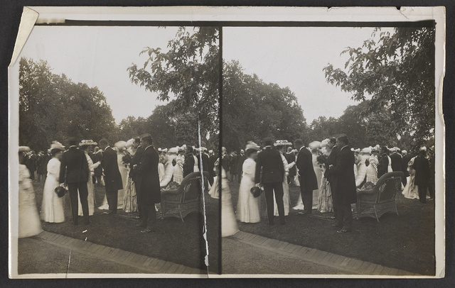 Lawn party at the White House - President and Mrs. Roosevelt receiving - Washington, D.C.