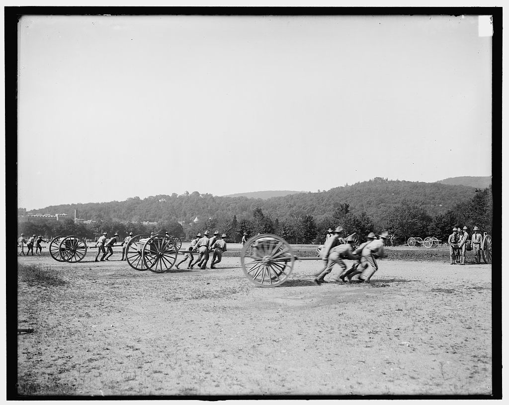 [Light artillery drill, hand battery, West Point, N.Y.]