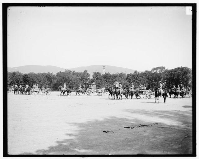 [Light artillery drill, horse battery, forward, West Point, N.Y.]