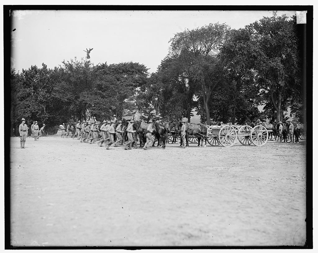 [Light artillery drill, horse battery, taking positions, West Point, N.Y.]