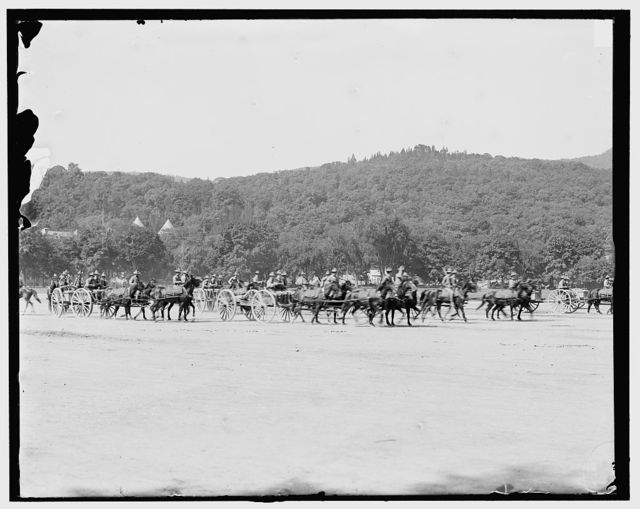 [Light artillery drill, horse battery, wheeling into line, West Point, N.Y.]