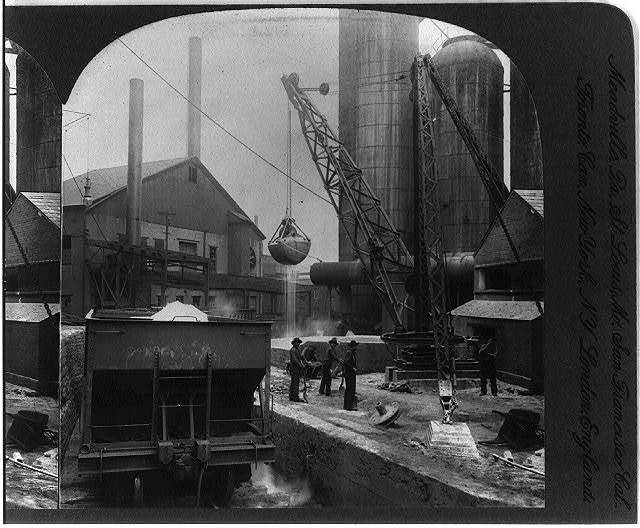 Loading slag, blast furnace, Pittsburg, Pa.