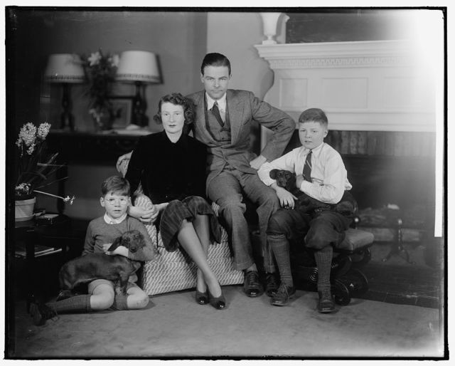 LODGE, HENRY CABOT, JR., SENATOR AND FAMILY