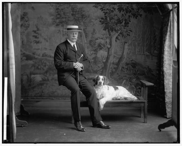 LORILLARD, PIERRE. WITH DOG
