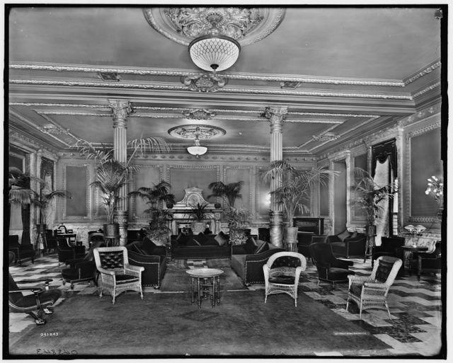 [Lounge in foyer, Murray Hill Hotel, New York, N.Y]